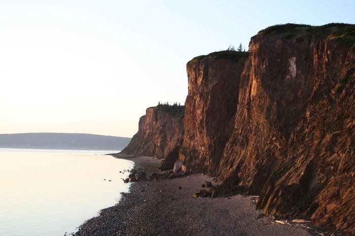 The cliffs at Cape Chignecto