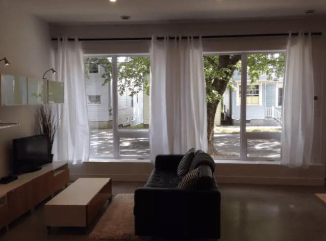 A street-level Halifax Airbnb