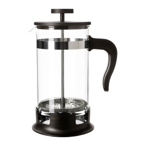 A french press coffee maker from Ikea