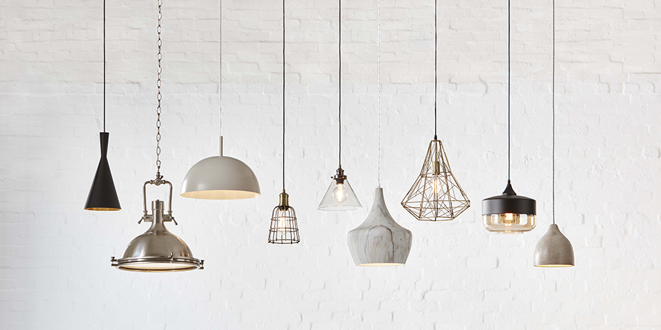 A vareity of pendant lights