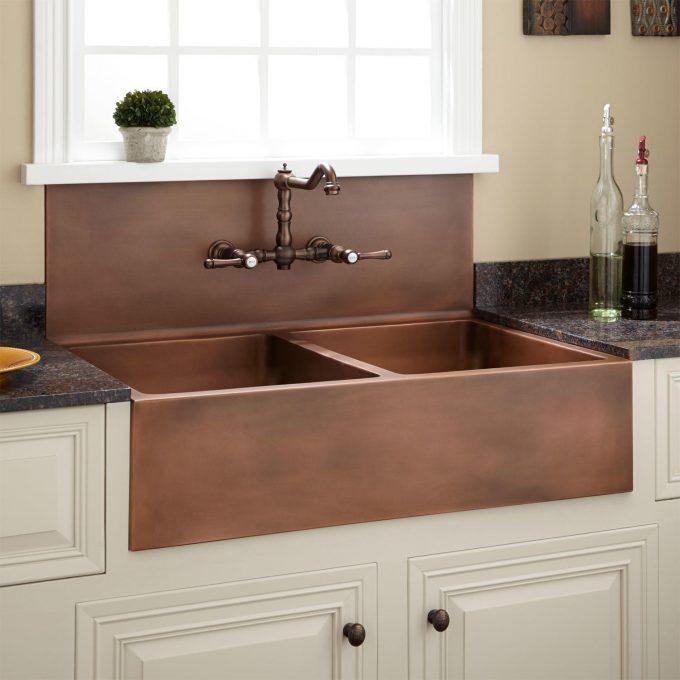 A Copper Farm House Sink
