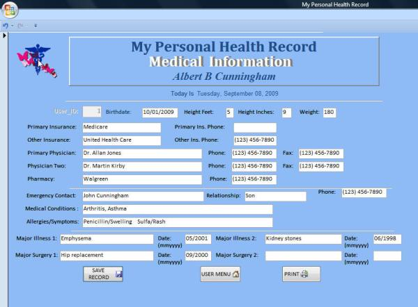 personal health record Health Information Technology