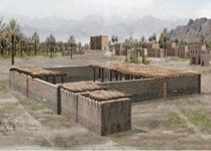 An artist's rendering of the Prophet's Mosque.