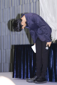 Jung Joon Young saying sorry in his press conference on sexual scandal