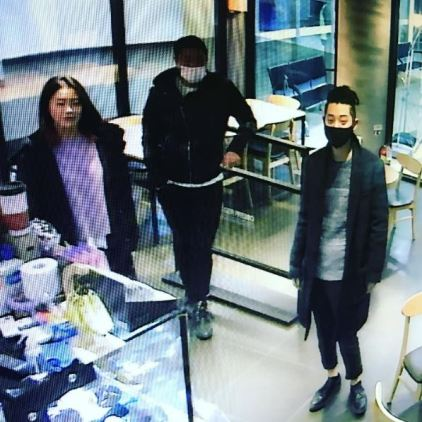 Jung Joon Young with new haircut hanging out with friends in December 2016