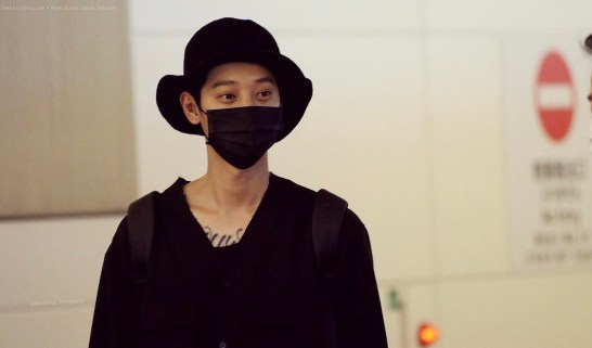 jung joon young in Haneda airport for showcase on 20170326