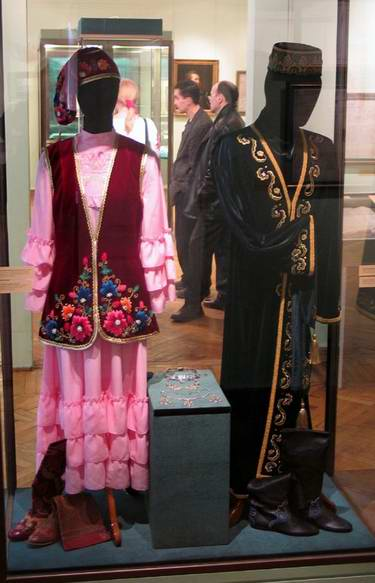 Tatar people national costumes photos