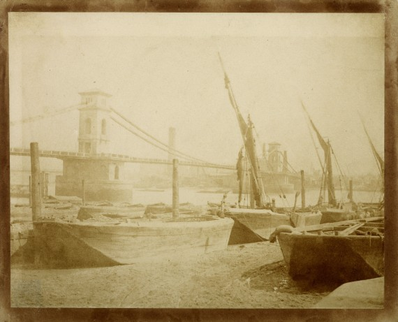 William Henry Fox Talbot - Old Hungerford Bridge, c1845 - IN4788