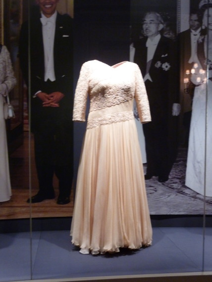 This is the dress The Queen wore when President Obama visited