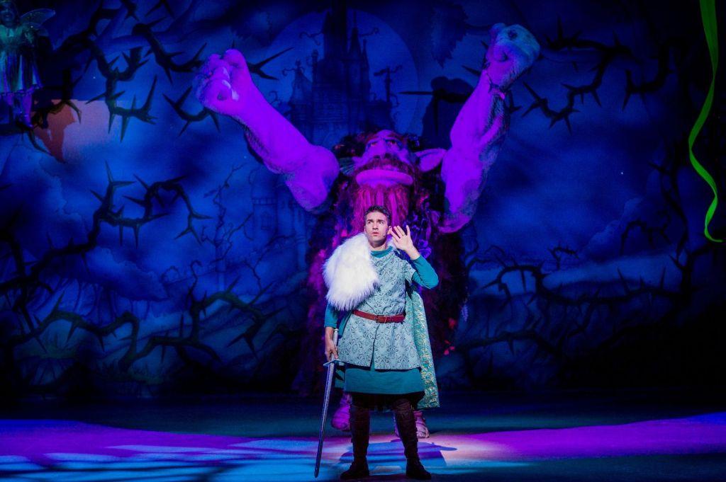 Wayne Perry as Prince Gabriel of Westminsteria in Hackney Empire's Sleeping Beauty