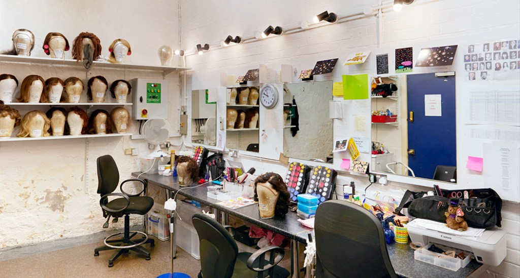 The wig room, The Old Vic Theatre. Copyright: Peter Dazeley