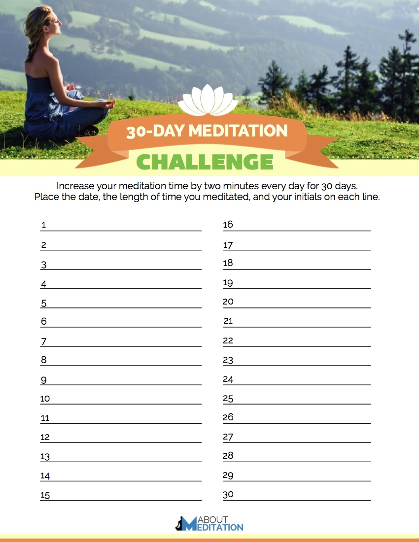 30 day meditation challenge - About Meditation