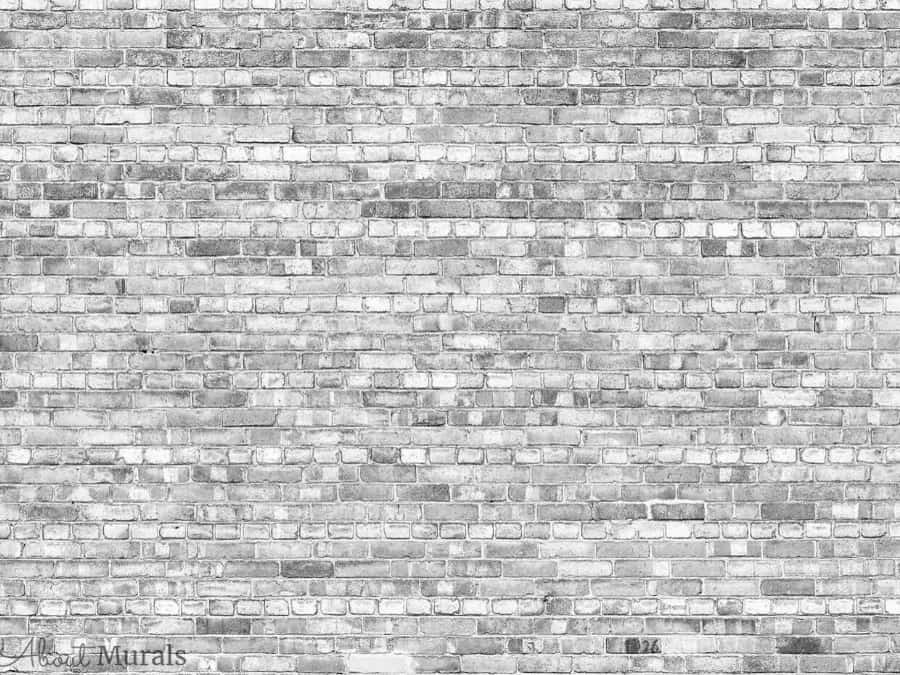 Old Brick Wall Mural Light Black And White About Murals