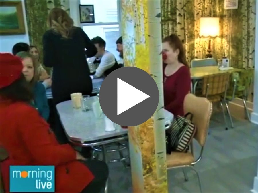 Forest Wallpaper is seen on CHCH Morning Live at Pete & Kay Diner in Hamilton, ON