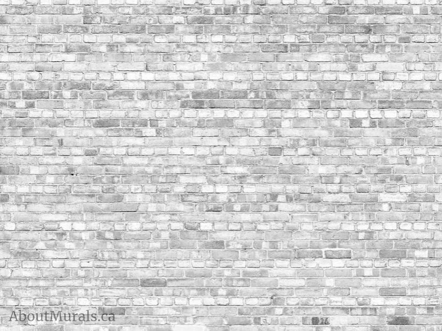 A gray brick wallpaper sold by AboutMurals.ca