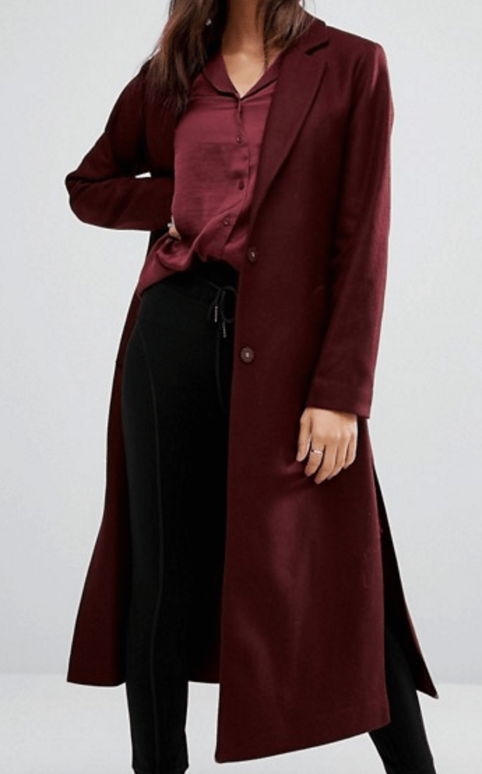 Manteau long fendu NewLook