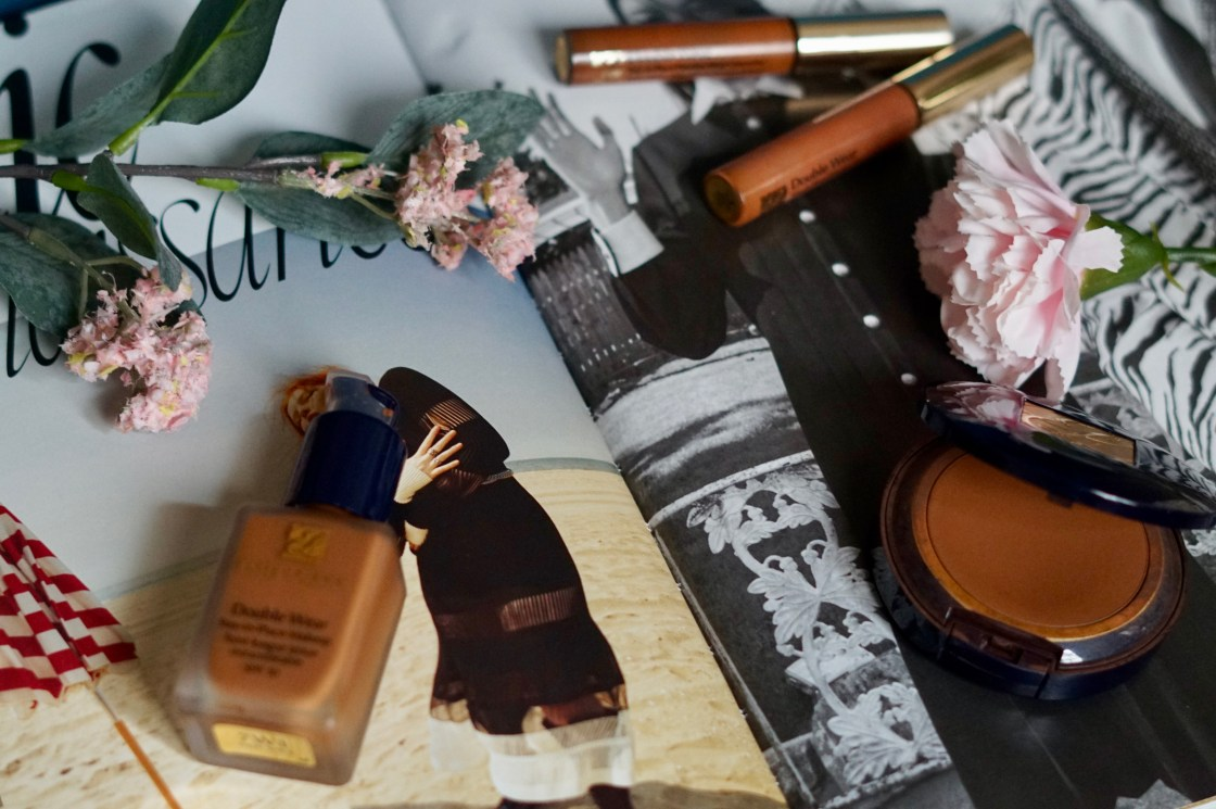 liquid and powder fondation, and concealers from Estée Lauder