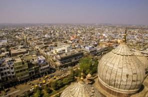India, Delhi, view from Jama Masjid mosque.