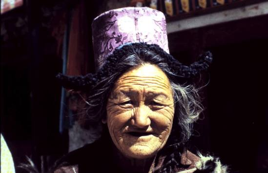 A local Ladakhi woman