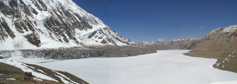 Tilicho lake during winter