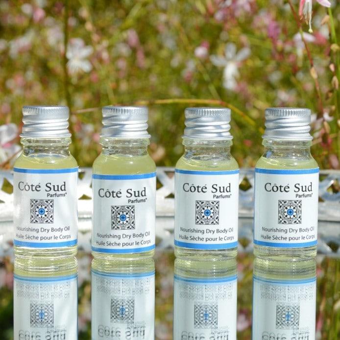 Huiles sèches nourrissantes pour le corps | Côté Sud Bio | Ingrédients à 98% d'origine naturelle et un parfum 100% naturel