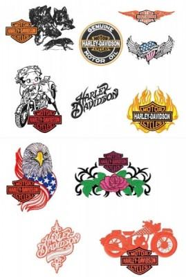 Harley Davidson Embroidery Designs Set (5×7 hoops)