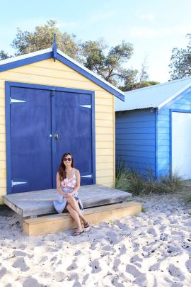 Ting at the beach huts. Photographer Lien Hang.