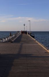 Fishing off the pier.