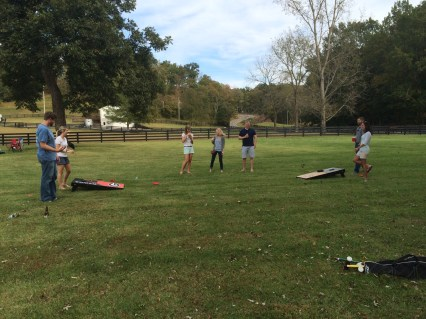 Cornhole competition