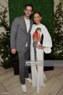 BEVERLY HILLS, CALIFORNIA - JULY 10: Tom Ellis and Lesley-Ann Brandt as The American Friends of Covent Garden Celebrates 50 Years With A Special Event For The Royal Opera House and The Royal Ballet at Jean Georges Beverly Hills on July 10, 2019 in Beverly Hills, California. (Photo by Stefanie Keenan/Getty Images for American Friends of Covent Garden)