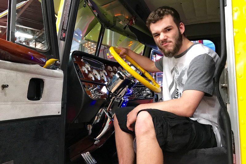 Jake in show truck