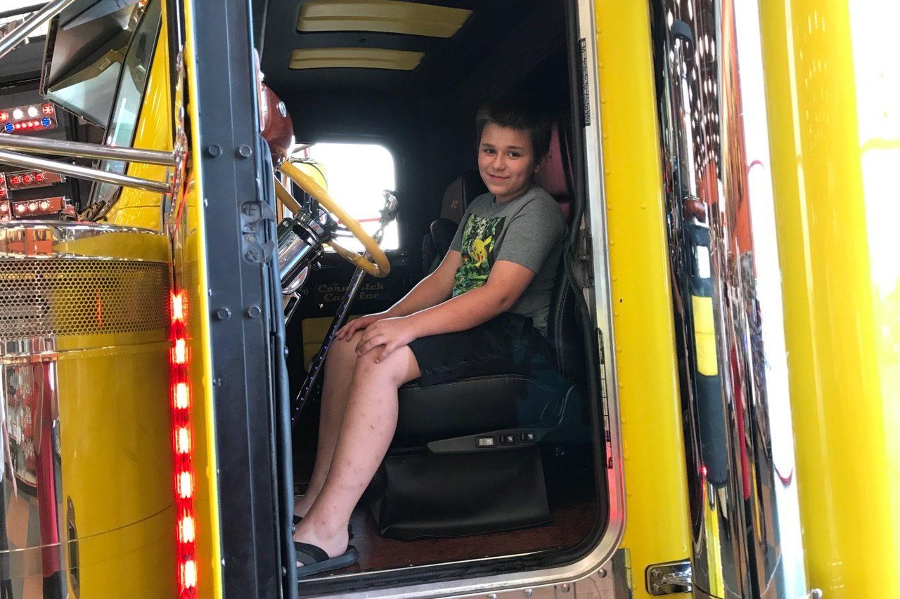 Joel in show truck