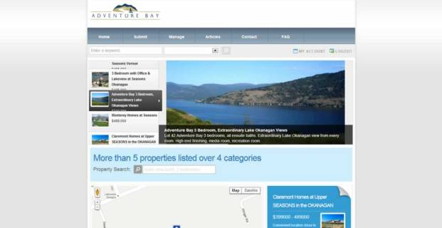 OkanaganLakeviewHomes.com :: Real Estate Listings Website