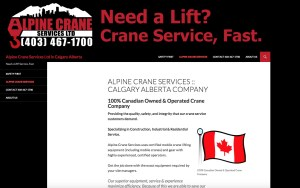 AlpineCraneServices.com Calgary Industrial Services Website Project