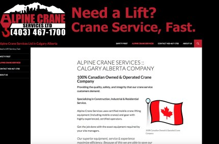 AlpineCraneServices.com :: Industrial Services Website