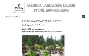 EquinoxLandscapeDesign.com Website Project