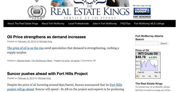 FtMcmurrayABrealestate.com :: Real Estate Blog Website