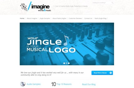 ImagineWordsandMusic.com :: Radio Jingle Website