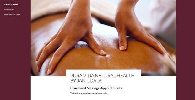 PeachlandBCmassage.com :: Healthy Massage Website