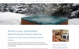 Luxurywhistleraccommodations.com Vacation Rental Website