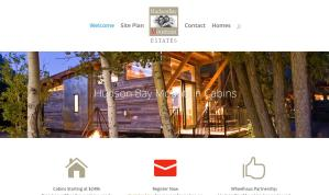 HudsonBayMountainCabins Real Estate Development Website