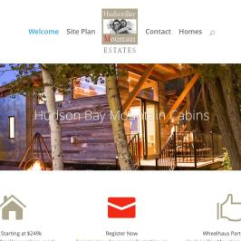 Real Estate Development Website for HudsonBayMountainCabins .com
