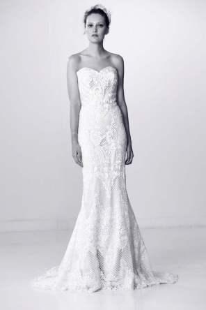 Courtesy of Alyne by Rita Vinieris Wedding dress by Alyne by Rita Vinieris