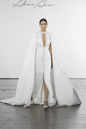 Courtesy of Getty Images Wedding dress by Dennis Basso for Kleinfeld