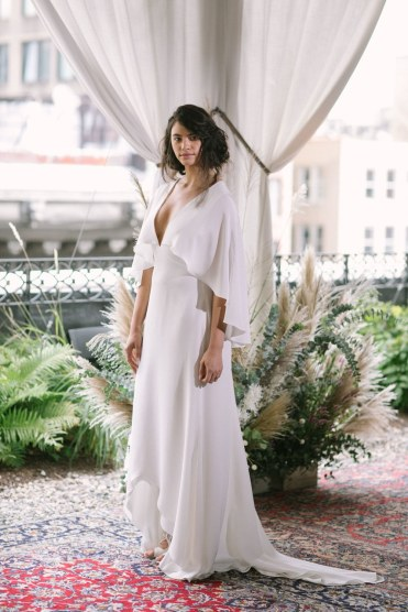 Greg Finck Wedding dress by Alexandra Grecco