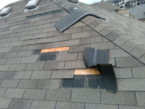 Shingle Blow Offs From High Winds Above All Projects