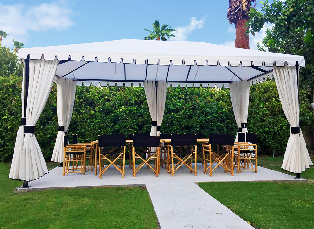 free standing canopy above all