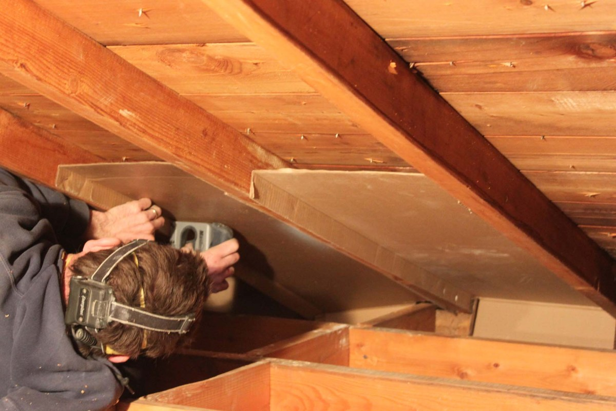 Attic Ventilation Installation Above All Winnipeg Insulation