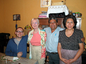 Brian and I with our hosts Carlos and Delia