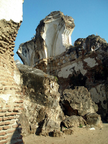 Ruins of a church destroyed in an early earthquake